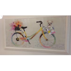 Картина Мишка на велосипеде