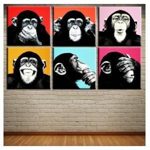 Картина Andywarol Affen Wand Malerei